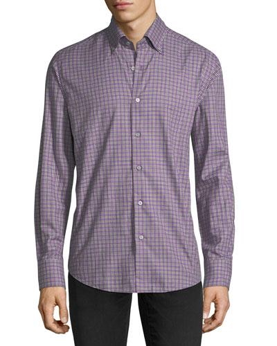 Flannel Check-Print Sport Shirt