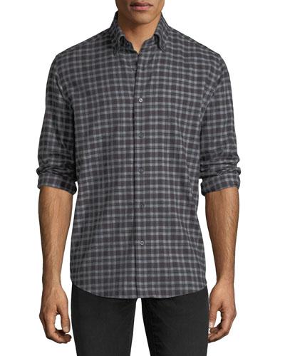 Plaid Flannel Sport Shirt