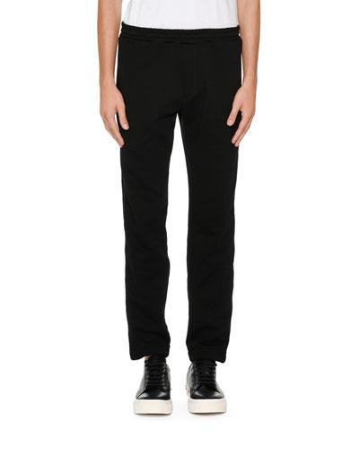 Tuxedo Pants w/ Wide Satin Stripes
