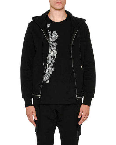 Long Zip-Front Two-Piece Hoodie