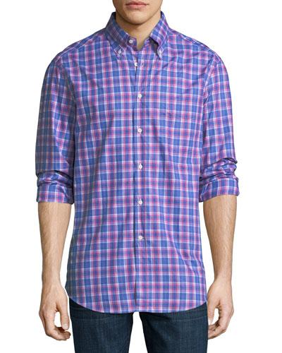 Plaid Cotton Sport Shirt