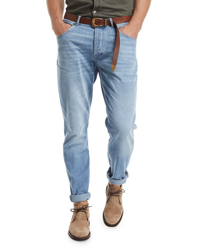 Traditional-Fit Straight-Leg Denim Jeans, Indigo