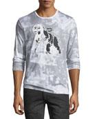 Cherub-Graphic Distressed Long-Sleeve T-Shirt