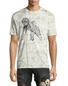 Leaf-Print Short-Sleeve T-Shirt