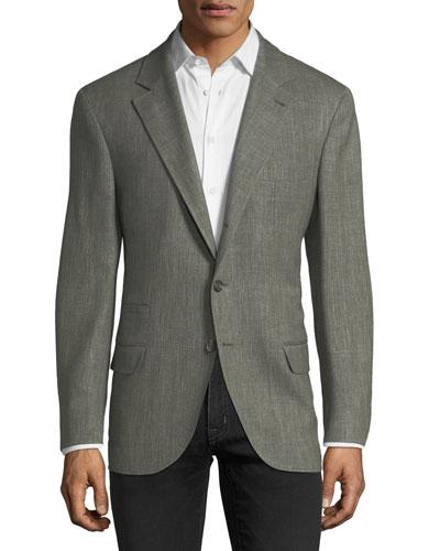 Triblend Herringbone Sport Jacket