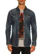 Washed Denim Western Shirt