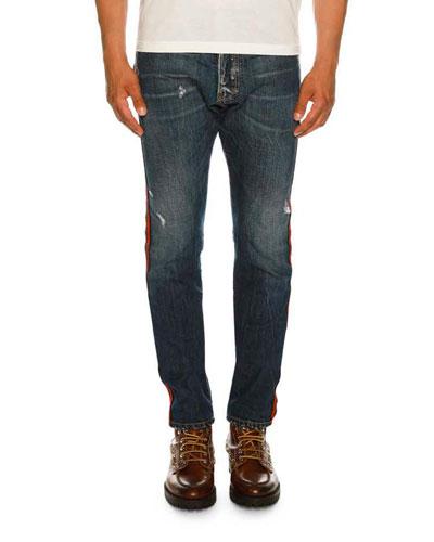 Slim-Fit Distressed Jeans