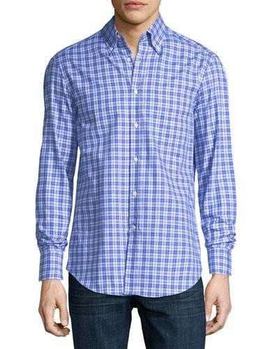 Panama Check Cotton Sport Shirt