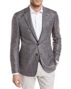 Melangé Wool-Blend Sport Coat