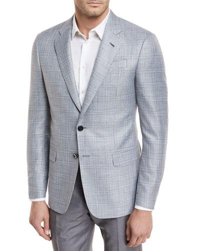 Plaid Viscose Sport Coat