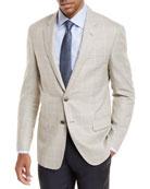Windowpane Plaid Wool Sport Coat