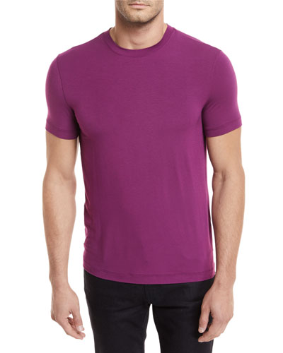 Solid Jersey Crewneck T-Shirt