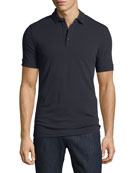 Solid Wool Polo Shirt