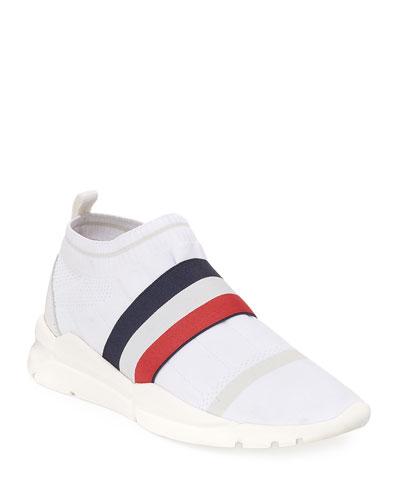 Adon Mesh-Knit Stretch-Stripe Sneaker