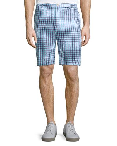 Apex Seersucker Check Shorts