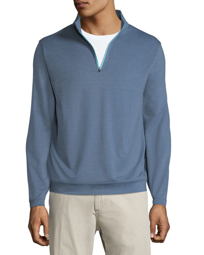 Perth Quarter-Zip Melangé Sweater