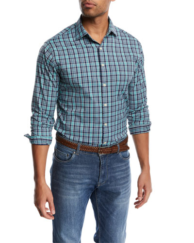Sutter Performance Check Shirt, Blue