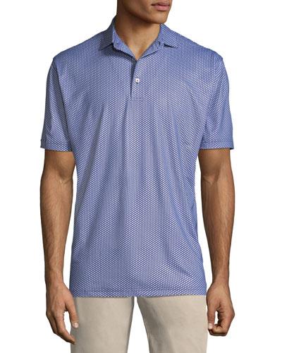 Mordecai Flower-Print Polo Shirt