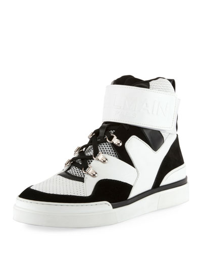 Men's Two-Tone High-Top Sneakers