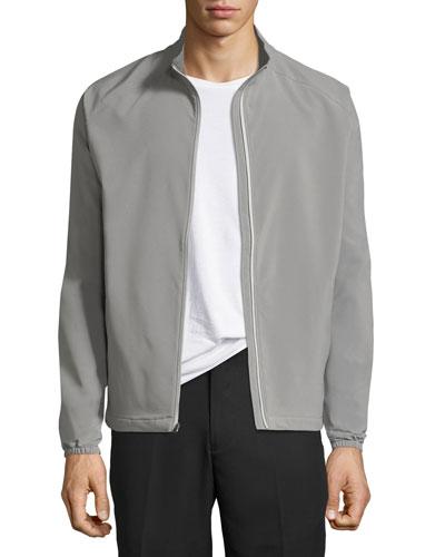 Cabot Stretch-Woven Zip Jacket, Smoke