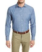Summer Chambray Woven Denim Shirt