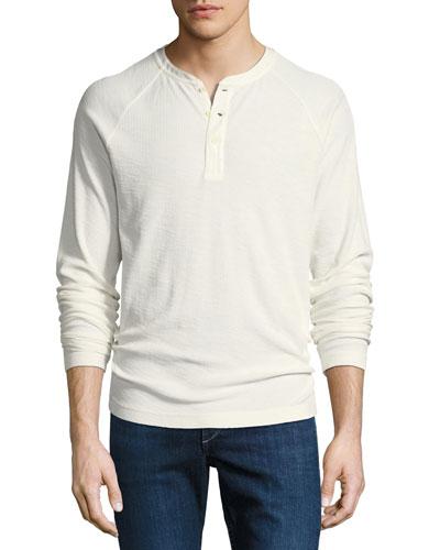 Dunes Ribbed Henley T-Shirt