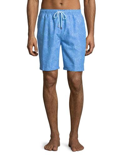 Summer Paisley Swim Trunks