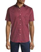 Aloaha Floral Short-Sleeve Sport Shirt