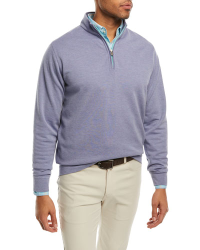 Crown Comfort Interlock Quarter-Zip Sweater