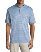 Grandview Striped Nanoluxe Polo Shirt