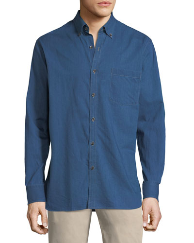 Crown Soft Denim Long-Sleeve Shirt