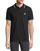 Classic Pique Patch Polo Shirt, Black