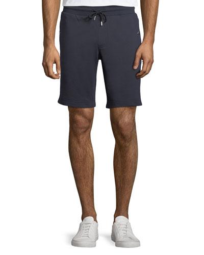 Cotton Sweat Shorts w/ Logo Taping Sides