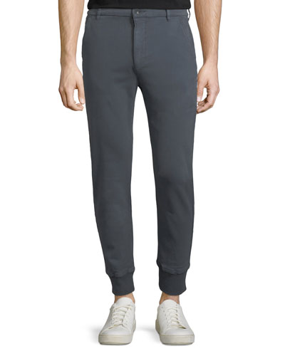 Baxter Chino Jogger Pants, Smoke Blue