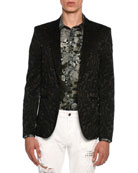 Embroidered Baroque Evening Jacket