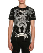 Snakes-and-Horns Jersey T-Shirt