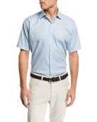Sail Away Short Sleeve Woven Shirt, Medium Blue