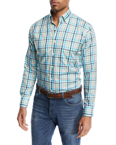Crown Ease Kohala Check Shirt, Bright Blue