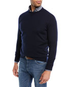 Crown Comfort Cashmere Sweater, Navy