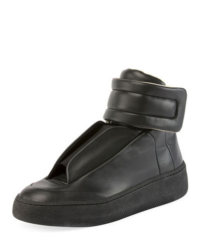 Future Leather Redux High-Top Sneaker, Black