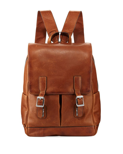 Oliver Leather Buckle Backpack