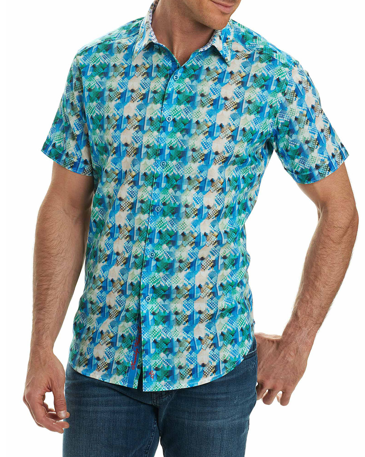 Ipanema Graphic-Print Short-Sleeve Sport Shirt