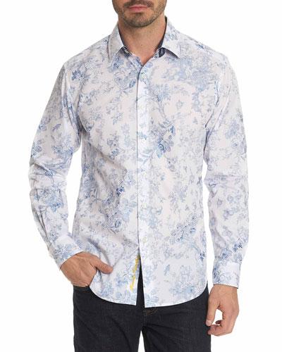 Rider Floral-Print Sport Shirt