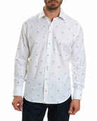 Palm Leaves Cotton Sport Shirt