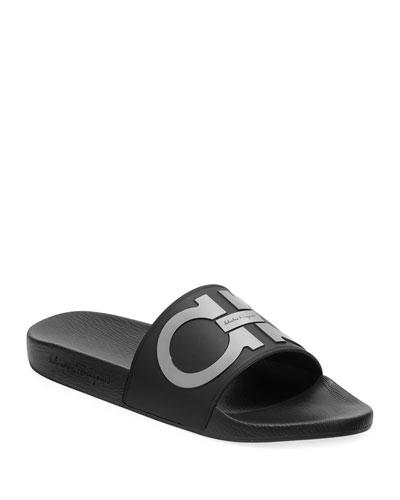 93a9813a4e52 Quick Look. Salvatore Ferragamo · Men s Groove Gancini Slide Sandal
