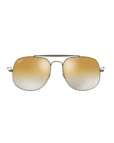 The General Metal Mirror Aviator Sunglasses