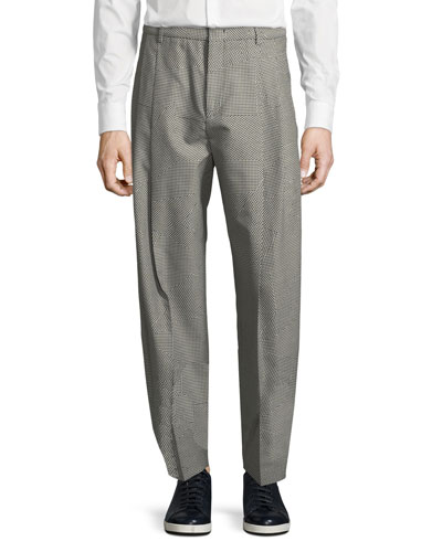 Mcq By Alexander Mcqueen  NICK CHECKED STRAIGHT-LEG TROUSERS