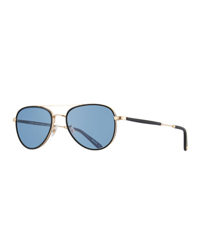 Linnie Aviator Sunglasses, Blue/Gold