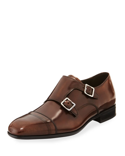 Defoe Madera Double-Monk Leather Shoe