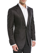 Tonal Jacquard Silk Dinner Jacket